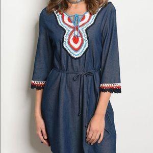 Dresses & Skirts - Boho Denim Tunic Dress